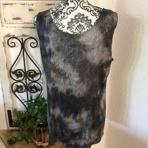 Chico's black and gray sleeveless top